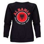 Albania Euro 2016 Fashion Women's Crewneck Sweatshirt (Black)