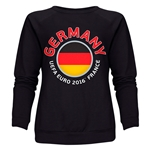 Germany Euro 2016 Fashion Women's Crewneck Sweatshirt (Black)