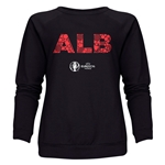 Albania Euro 2016 Elements Women's Crewneck Sweatshirt (Black)