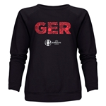 Germany Euro 2016 Elements Women's Crewneck Sweatshirt (Black)