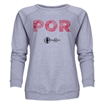 Portugal Euro 2016 Elements Women's Crewneck Sweatshirt (Grey)