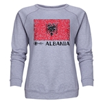 Albania Euro 2016 Fashion Women's Crewneck Sweatshirt (Grey)