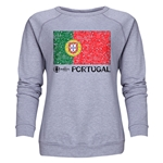 Portugal Euro 2016 Fashion Women's Crewneck Sweatshirt (Grey)