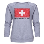 Switzerland Euro 2016 Fashion Women's Crewneck Sweatshirt (Grey)