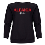 Albania Euro 2016 Core Women's Crewneck Sweatshirt (Black)