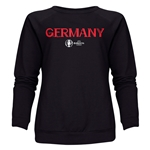 Germany Euro 2016 Core Women's Crewneck Sweatshirt (Black)