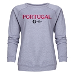 Portugal Euro 2016 Core Women's Crewneck Sweatshirt (Grey)