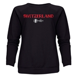 Switzerland Euro 2016 Core Women's Crewneck Sweatshirt (Black)