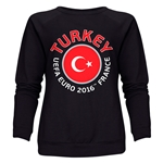 Turkey Euro 2016 Fashion Women's Crewneck Sweatshirt (Black)
