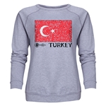Turkey Euro 2016 Fashion Women's Crewneck Sweatshirt (Grey)