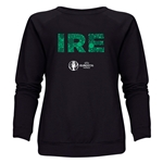 Ireland Euro 2016 Elements Women's Crewneck Sweatshirt (Black)