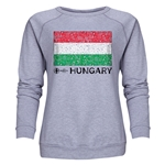 Hungary Euro 2016 Fashion Women's Crewneck Sweatshirt (Grey)