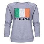 Ireland Euro 2016 Fashion Women's Crewneck Sweatshirt (Grey)
