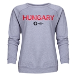 Hungary Euro 2016 Core Women's Crewneck Sweatshirt (Grey)