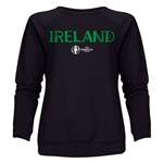 Ireland Euro 2016 Core Women's Crewneck Sweatshirt (Black)