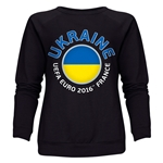 Ukraine Euro 2016 Fashion Women's Crewneck Sweatshirt (Black)