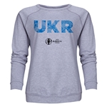 Ukraine Euro 2016 Elements Women's Crewneck Sweatshirt (Grey)