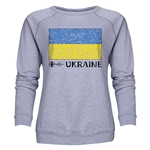 Ukraine Euro 2016 Fashion Women's Crewneck Sweatshirt (Grey)