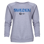 Sweden Euro 2016 Core Women's Crewneck Sweatshirt (Grey)