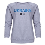 Ukraine Euro 2016 Core Women's Crewneck Sweatshirt (Grey)