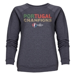 Portugal UEFA Euro 2016 Champions Women's Crewneck Fleece (Dark Gray)