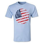 Who Are Ya? USA Retro Ball T-Shirt (Blue)
