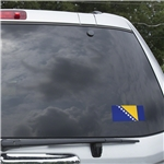 Bosnia-Herzegovina Flag Graphic Window Cling
