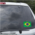 Brazil Flag Graphic Window Cling