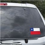 Chile Flag Graphic Window Cling
