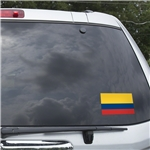 Colombia Flag Graphic Window Cling