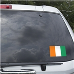 Cote d'Ivoire Flag Graphic Window Cling
