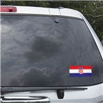 Croatia Flag Graphic Window Cling