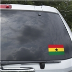 Ghana Flag Graphic Window Cling