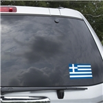 Greece Flag Graphic Window Cling