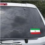 Iran Flag Graphic Window Cling