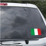 Italy Flag Graphic Window Cling