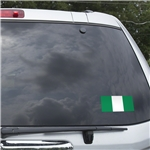 Nigeria Flag Graphic Window Cling