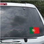 Portugal Flag Graphic Window Cling