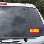 Spain Flag Graphic Window Cling