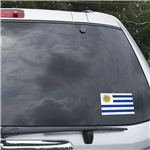 Uruguay Flag Graphic Window Cling