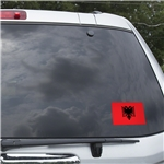 Albania Flag Graphic Window Cling