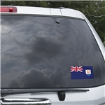 Anguilla Flag Graphic Window Cling