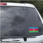 Azerbaijan Flag Graphic Window Cling