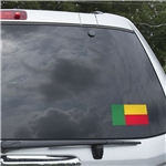 Benin Flag Graphic Window Cling