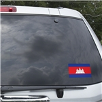 Cambodia Flag Graphic Window Cling