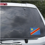 Congo DR Flag Graphic Window Cling