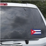 Cuba Flag Graphic Window Cling