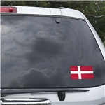 Denmark Flag Graphic Window Cling