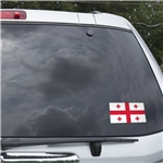 Georgia Flag Graphic Window Cling