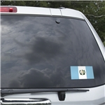 Guatemala Flag Graphic Window Cling